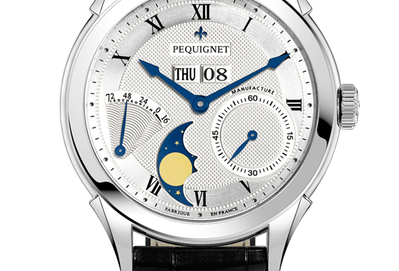 Pequignet Rue Royale Power Reserve,Day-Date,Moonphase