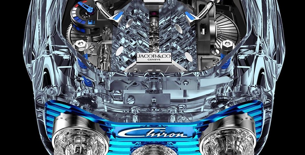 acob & Co. Bugatti Chiron 16-Zylinder, Sapphire Glass Chrystal