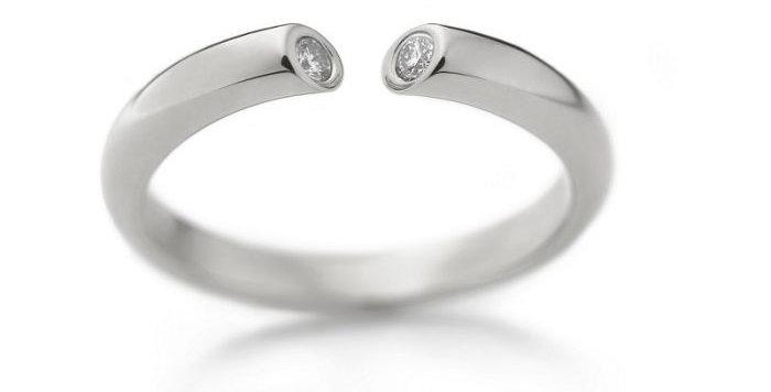 Ring DIALOG Platin 0,07 ct Wsi
