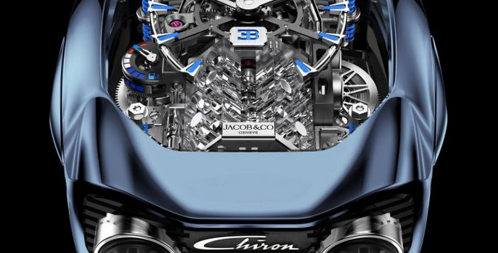 Jacob & Co. Bugatti Chiron 16-Zylinder Blue Titanium