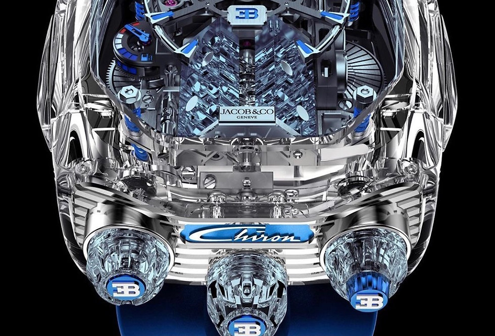 Jacob & Co. Bugatti Chiron 16-Zylinder, Sapphire Glass Chrystal