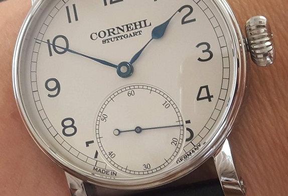 Cornehl Classic Silver Lünette flach, Zwiebelkrone