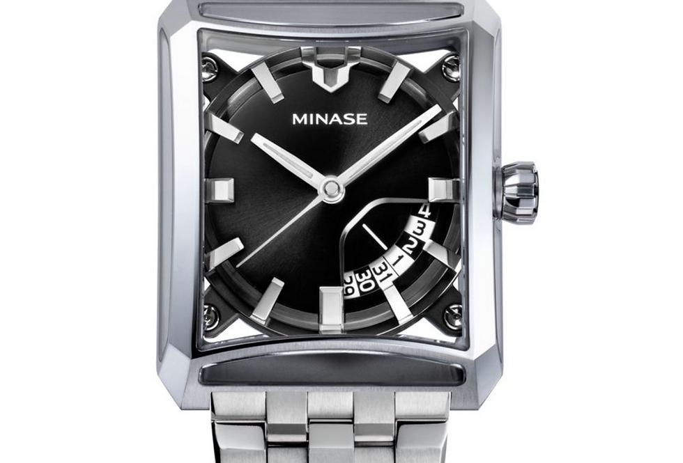 Minase 7-Windows Black neuestes Modell 2021 Steel bracelet