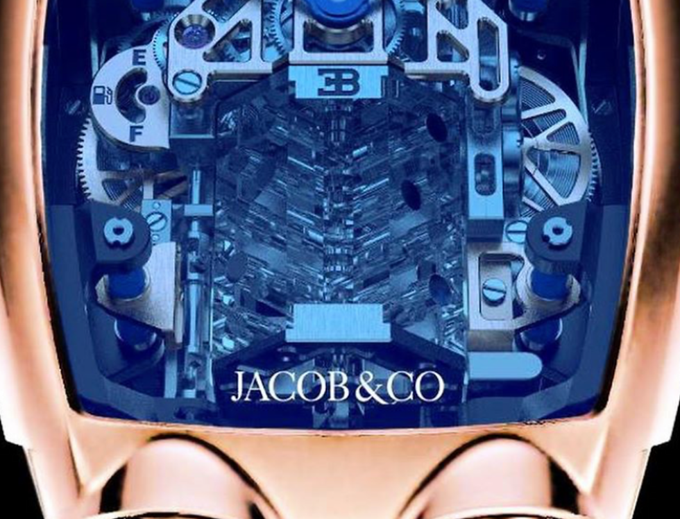 Jacob & Co. Bugatti Chiron 16-Zylinder Tourbillon, Rosegold Limited 72 Pieces
