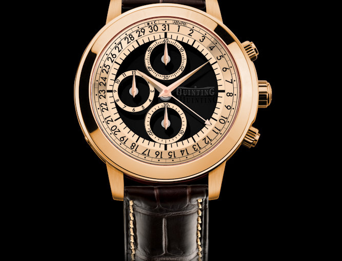 Quinting Mysterious Chronograph 6 Optionen Rose Gold