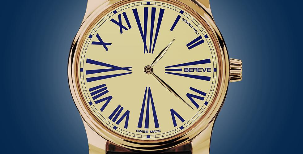 "Bereve Emperor 18k 4N Gold Ivory Dial ""Grand Feu"""