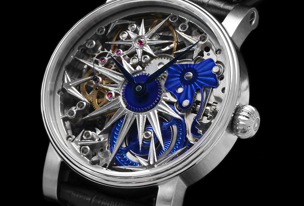 Schaumburg Watch Unikatorium Ice Crystal II handmade