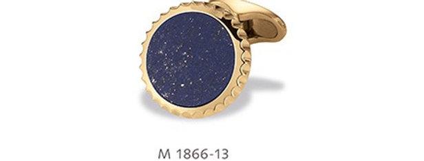 1 Paar handgearbeitete Manschettenknöpfe aus 750/Gold mit poliertem Lapislazuli