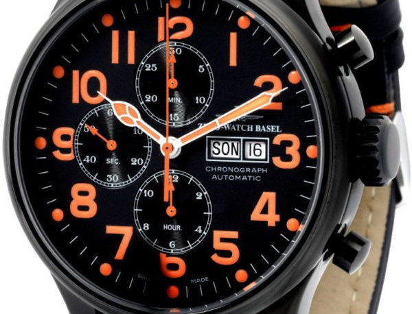 OS Pilot Chrono Day Date black&orange