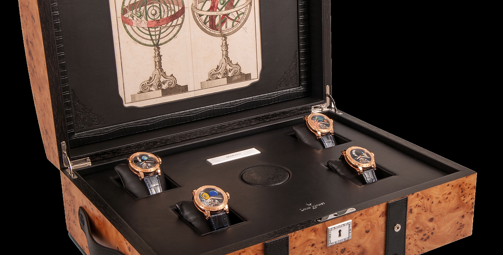 Louis Moinet Moon Race Set 4 Gold Watches Unique Piece