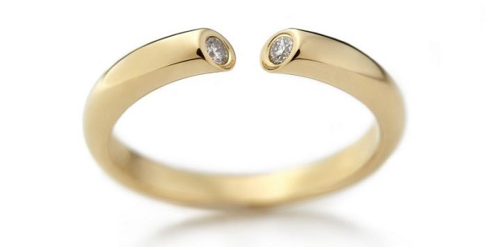 Ring DIALOG Gelbgold 0,07 ct Wsi