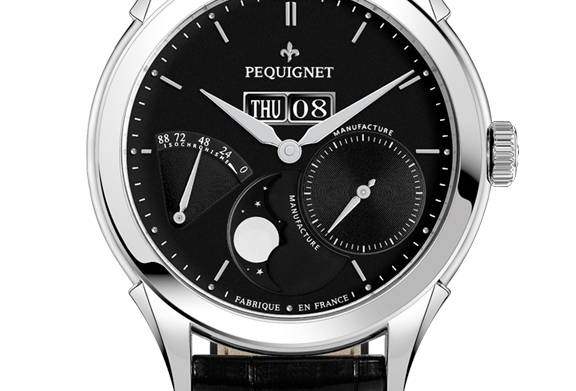 Pequignet Rue Royale Power Reserve,Day-Date, Moonphase