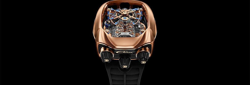 Jacob & Co. Bugatti Chiron 16-Zylinder Tourbillon, Rosegold