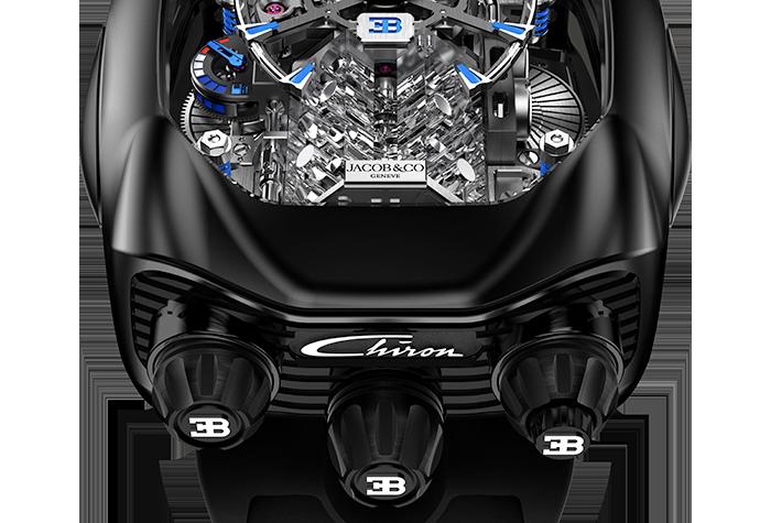 Jacob & Co. Bugatti Chiron 16-Zylinder Tourbillon, Black Titanium