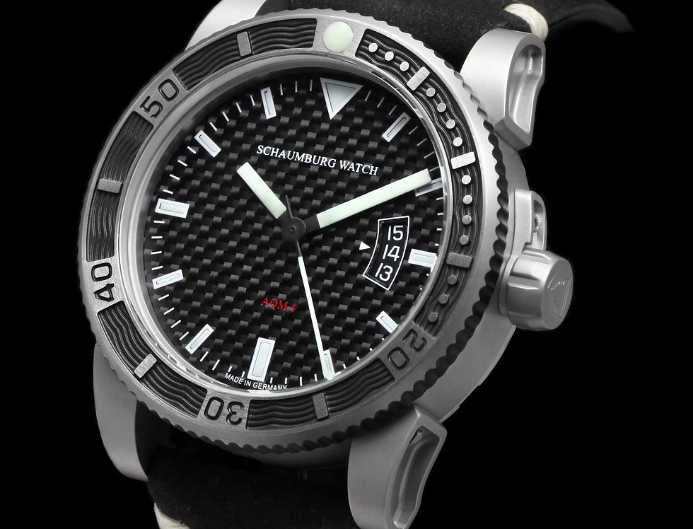 Schaumburg Watch AQM 4Diver Carbon