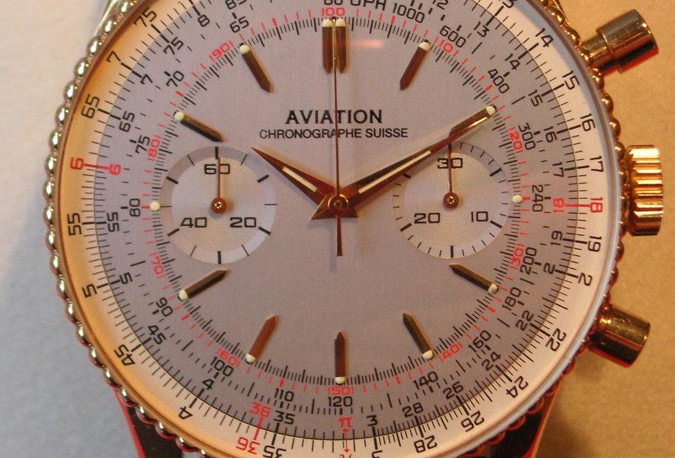 Ollech & Wajs Aviation Chrono 18kt.Gold (letztes Modell NOS)