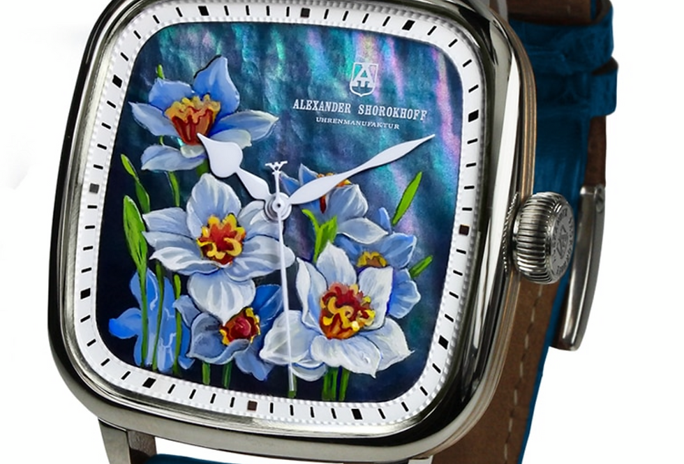 """Alexander Shorokhoff """"Daffodils"""" Mother of Pearl Handpainted Limited Edition 13"""