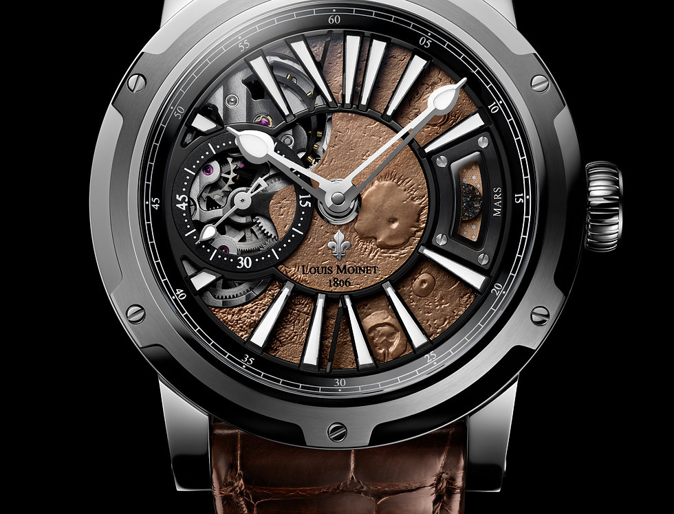 """Louis Moinet """"MARS"""" Limited 60 pieces/12 in GOLD"""