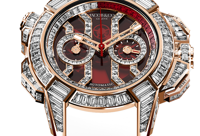 Jacob & Co. Epic X Chrono Rose Gold, Full Baguette Limited 18 Pieces