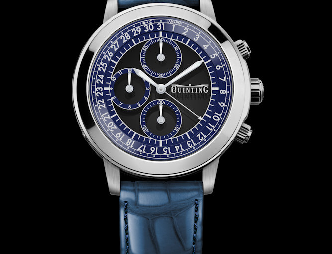 Quinting Mysterious Chronograph 6 Optionen White Gold