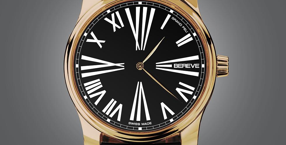 "Bereve Emperor 18km 4N Gold Black Dial ""Grand Feu black"""