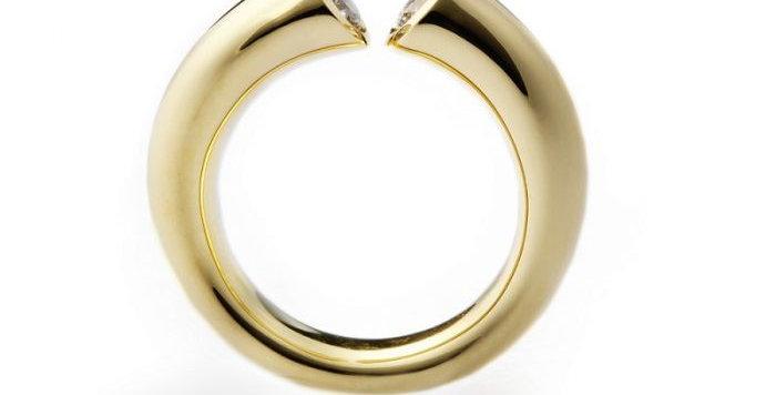 Ring DIALOG Gelbgold mit 2 Brillanten zus. 0,55 ct Wsi