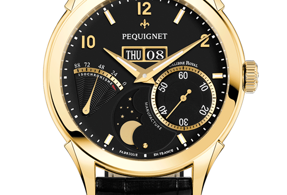 Pequignet Rue Royale Gold, Day-Date, Moonphase