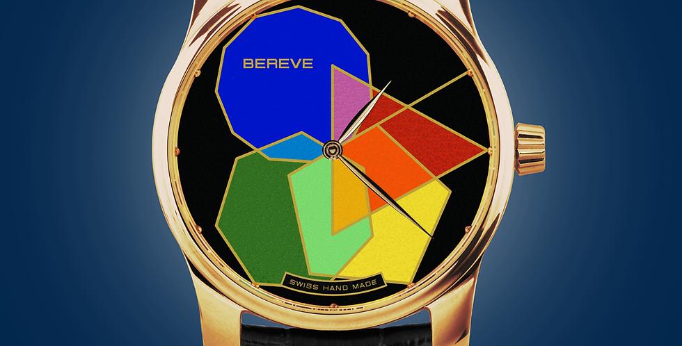 "Bereve Polygonal Prime 18k 4N Gold ""Grand Feu"" Gold Dial"