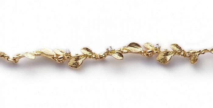 Armband WINDSPIEL 1 Gelbgold mit 3 Brillanten