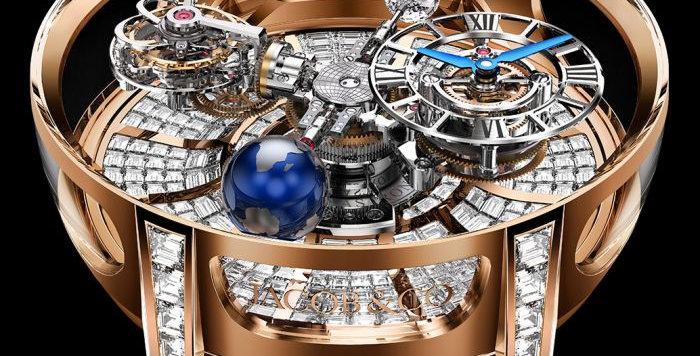 Jacob & Co. Astronomia Tourbillon Baguette Roségold 18 Pieces Limited