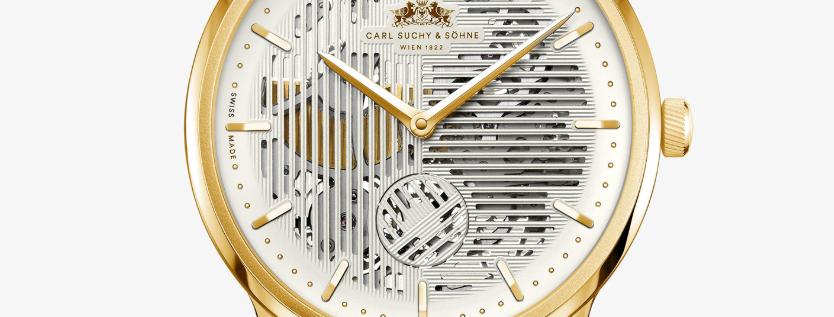 Carl Suchy & Söhne Waltz No.1 Skeleton Gold Manufakturkaliber, Mikrorotor