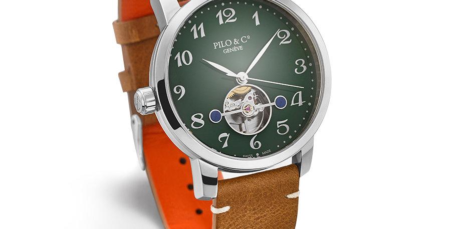 Pilo & Co Tempo Steel Green Dial