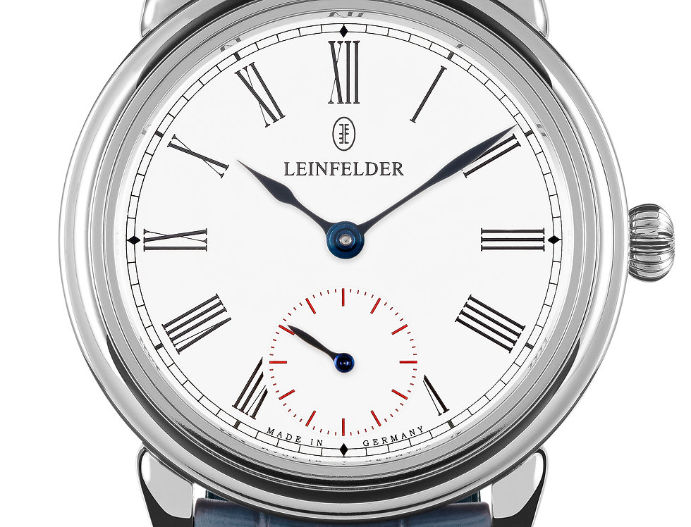 Leinfelder Uhren München Elysium Weiss Gold Manufaktur Kaliber