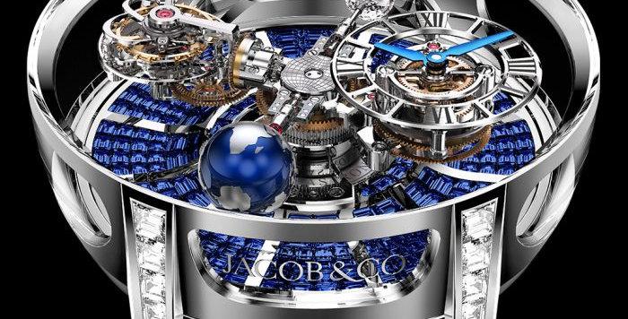 Jacob & Co. Astronomia Tourbillon Baguette Blue Sapphires 9 Pieces Limited
