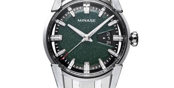 Minase Divido Deep Green Urushi Steel Bracelet