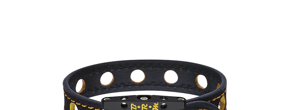 Speed BRM Armband aus schwarzem Titan und gelbem Lack