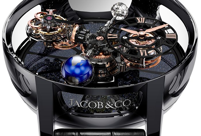 Jacob & Co. ASTRONOMIA TOURBILLON BLACK CERAMIC BLACK & ROSE GOLD MOV.
