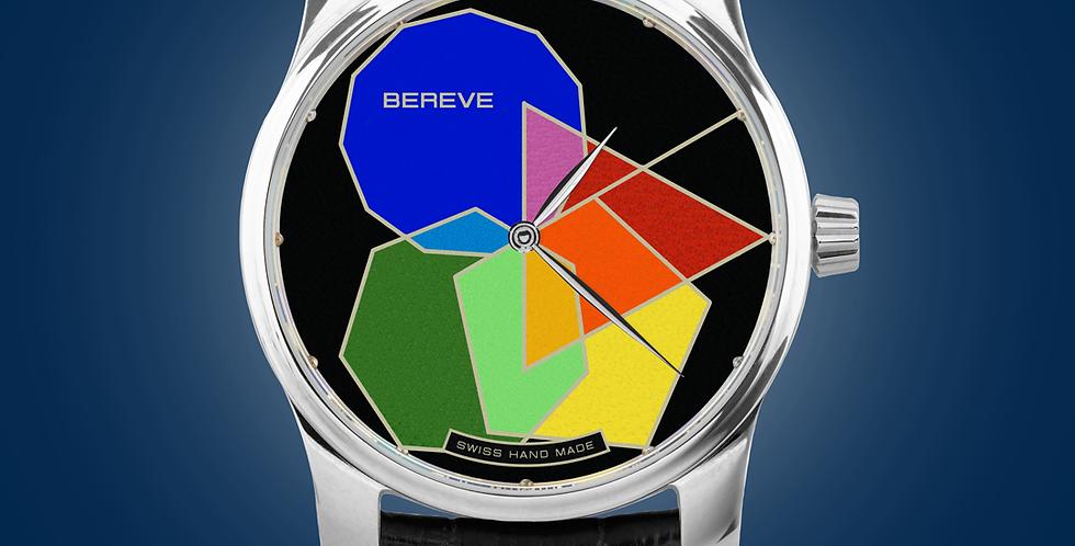 "Bereve Polygonal PRIME Silver Dial Champlevé ""Grand Feu"""
