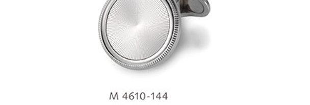 1 Paar handgearbeitete Manschettenknöpfe aus 750/Weissgold, diam. Weissgoldplatt