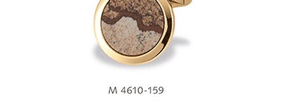 1 Paar handgearbeitete Manschettenknöpfe aus 750/Gold mit poliertem Eisenkiesel
