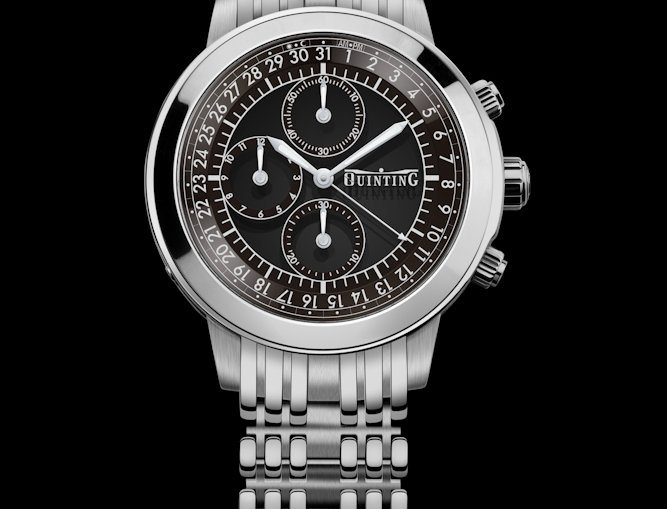 Quinting Mysterious Chronograph 6 Optionen Steel Bracelet