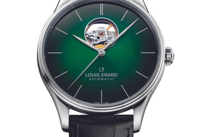 Louis Erard Héritage Dress Watch OPEN Optional: blue Dial