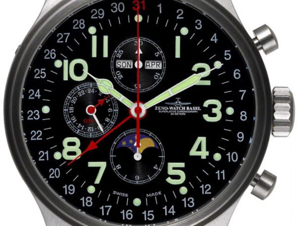 OS Pilot Chronograph full calendar