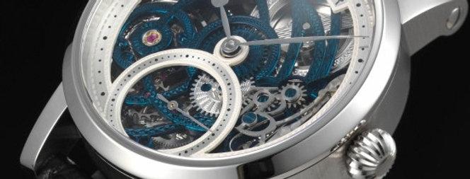 3/4 Skelett Blue Rose Engine