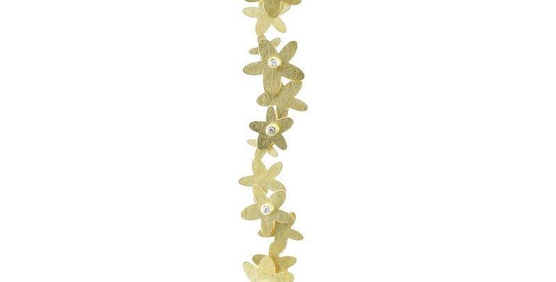 Anhänger Flower Power Gold / 750 mit 5 Brillanten total 0,10 ct. Wsi