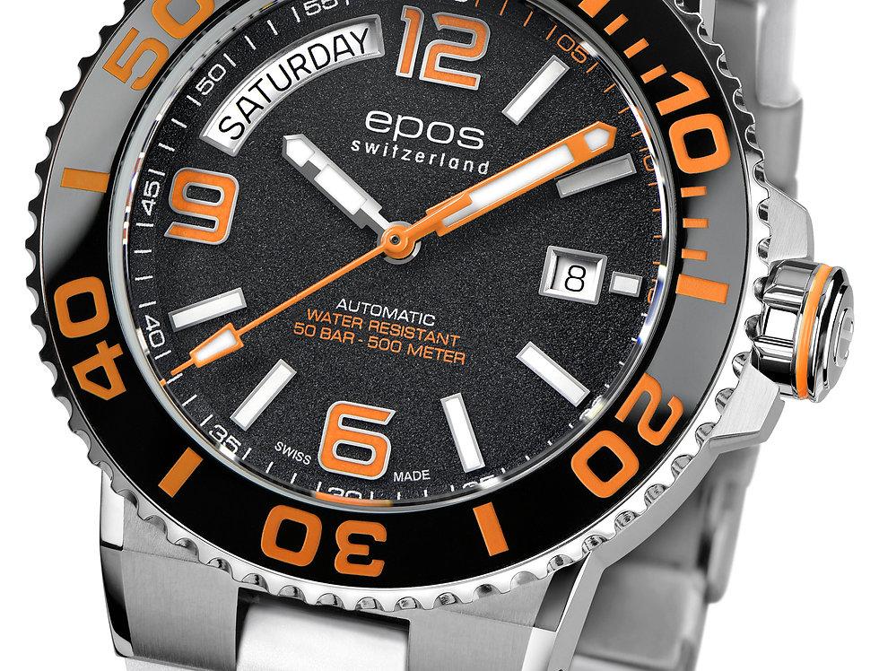 Epos SPORTIVE Diver, Day-Date in 7 farblichen Optionen