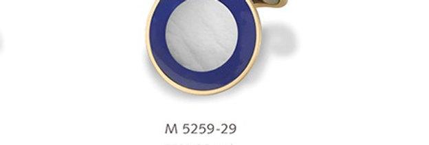 1 Paar handgearbeitete Manschettenknöpfe aus 750/Gold mit poliertem Perlmutt + L