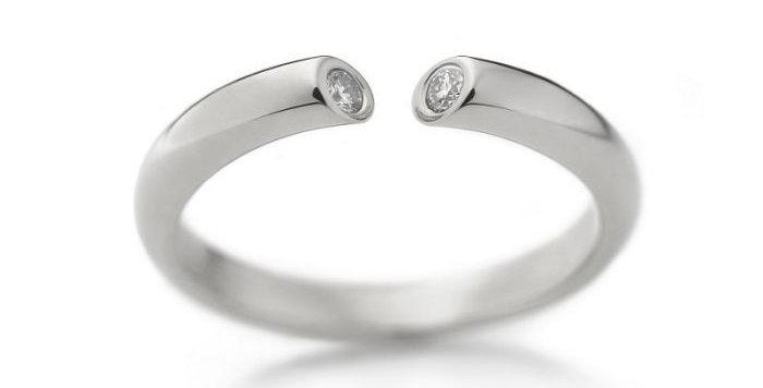 Ring DIALOG Weißgold mit 2 Brillanten zus. 0,07 ct Wsi
