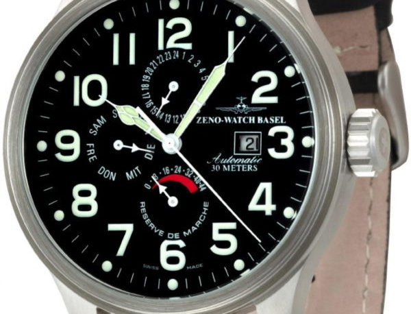 Oversized Pilot Power Reserve, Day Date, Dual-Time
