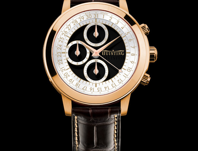Quinting Mysterious Chronograph 5 Optionen Yellow Gold